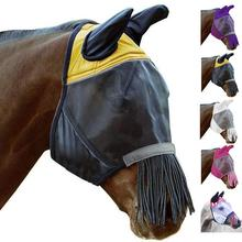 Pet Supplies Horse Detachable Mesh Mask With Nasal Cover Horse Fly Mask Horse Full Face Mask Anti-mosquito Nose Facial Cover cashel crusader fly mask with long nose all sizes