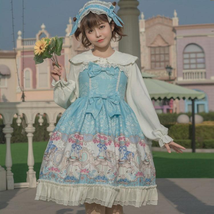 Running Carousel Rose Sweet 2019 Lolita JSK Summer Dress