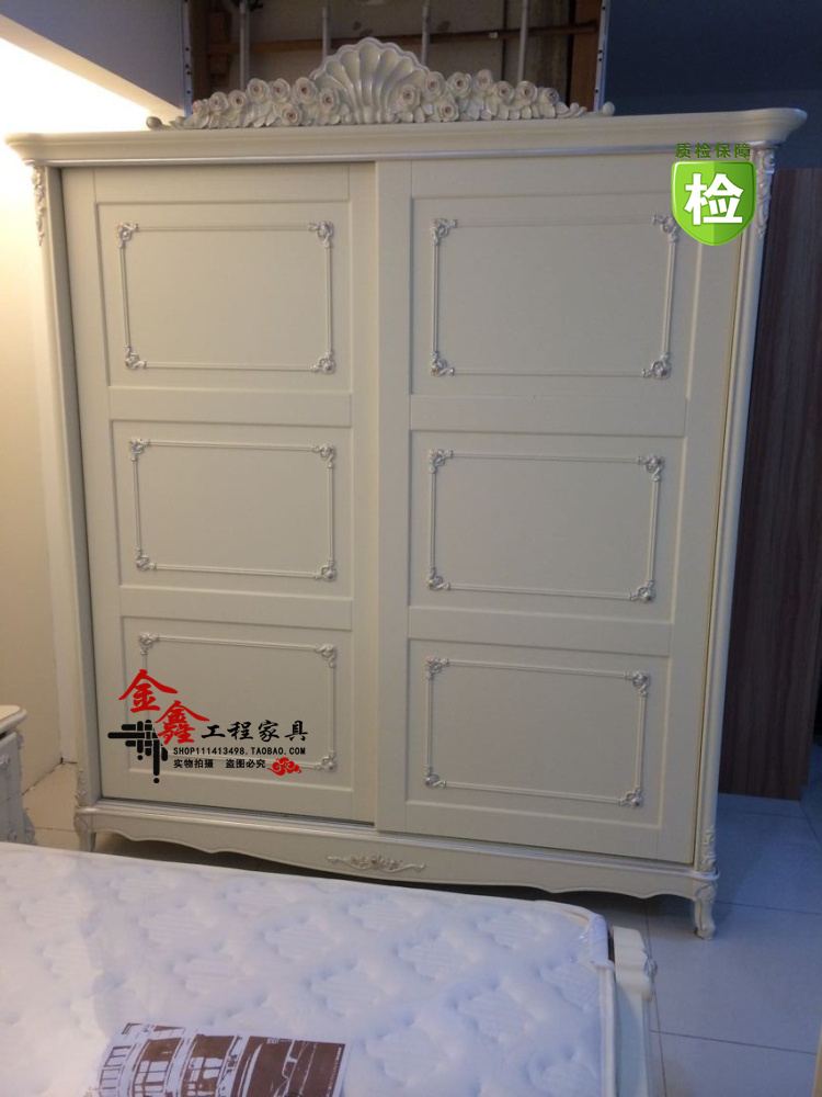 Continental French double doors sliding door wardrobe white wood carved depiction silver neoclassical hotel closet wardrobe ... & door grip Picture - More Detailed Picture about Continental French ... Pezcame.Com