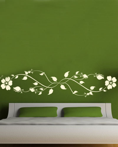 Perfect DCTOP Hot Sale Fantastic Floral Design Bed Room Decor Flower Wall Sticker  Wall Art Multi Color