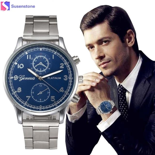 Relogio masculino модные мужские часы Полный Нержавеющаясталь Дата Группа мужской часы Аналоговые Бизнес кварцевый Многофункциональный наручные часы
