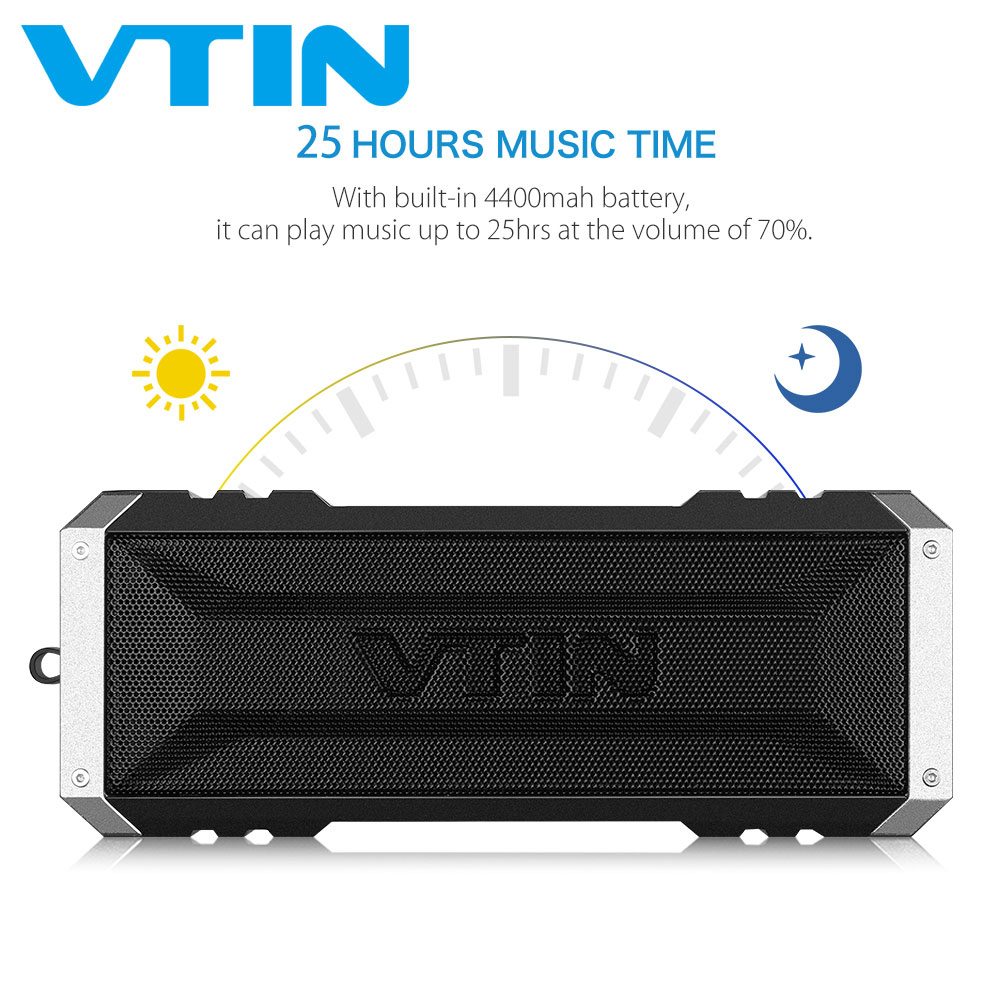 Original VTIN Punker Bluetooth Speaker Waterproof Speakers 20W Drivers Stereo Sound Portable Outdoor Speaker With Microphone