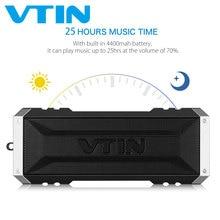 원래 vtin punker 블루투스 스피커 방수 스피커 20 w 드라이버 스테레오 사운드 휴대용 야외 스피커 마이크