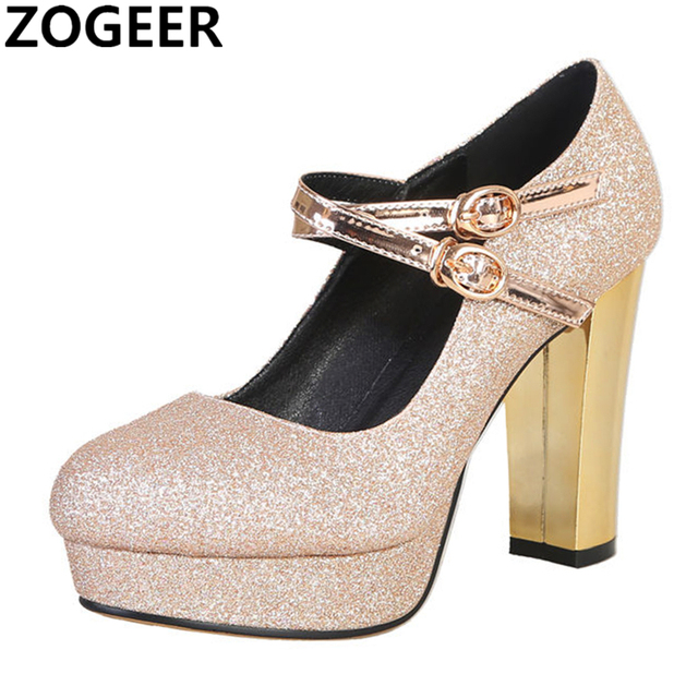99001bc035a0 Hot 2019 High Heels Women Pumps Fashion Sexy Luxury Bling Gold Silver Shoes  Woman Casual Platform