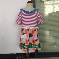 wholesale bulk Boutique Cute Girls Dress white Purple With Pocket Clothing Ruffle Remake Children Princess Party Dress DX041
