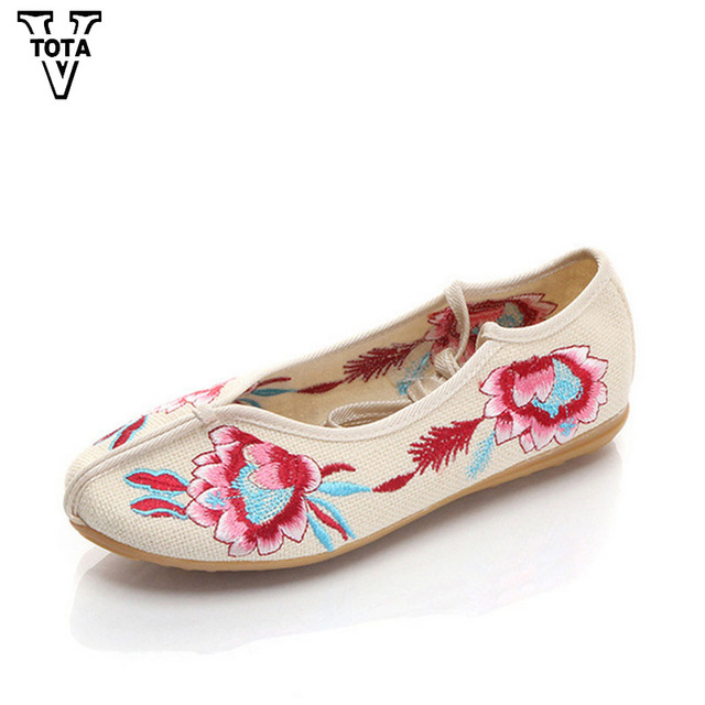 Ballerines Chaussures Femme chaussures en tissu brodées ShphOHKU