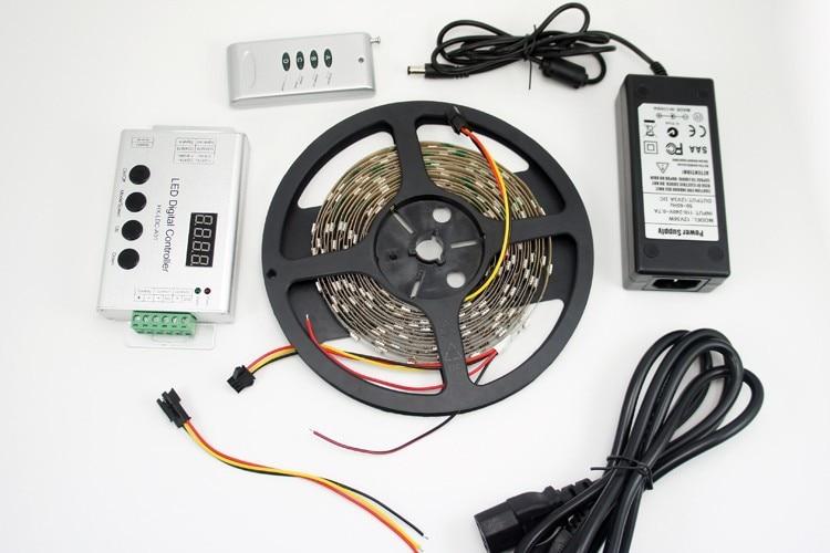 ФОТО 12VDC 30LED/M RGB SMD5050 Digital Dream Color LED Strip Kit UCS1903 IC Addressable 150LED per 5M Roll