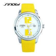 SINOBI Nueva Moda de Lujo Para Hombre de Cuarzo de Colores Reloj de Pulsera Hombres Sillicone Reloj Deportivo Relogio masculino Regalo SN26