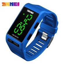 SKMEI Элитный бренд Для мужчин спортивные часы для дайвинга 30 м цифровой светодиодный военные часы мужские Мода часы мужские наручные электронные