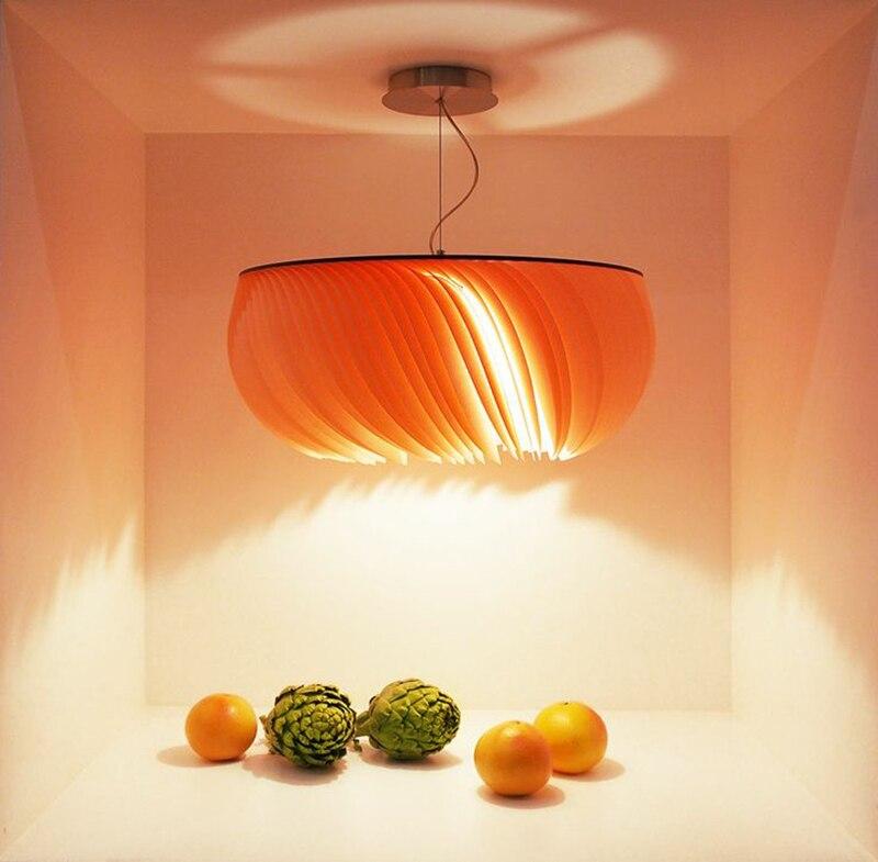 Nordique moderne simple papier Designer pendentif lumières créatif foyer chambre enfants chambre art maison décoration LED d'éclairage - 6