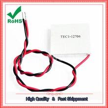 TEC1-12706 12706 TEC Thermoelectric Cooler Peltier 12 V Nova De Refrigeração De Semicondutores TEC112706 Módulo Placa Do Dissipador de Calor
