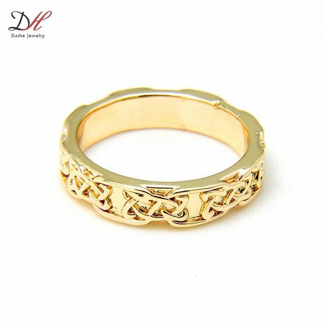 Wholesale Gold Classic Wedding Band Knot Design Irish Promise Ring