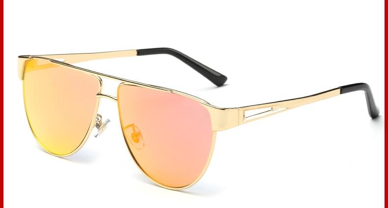 VictoryLip 2017 Cateye Flat Top Pilot Marke Designer Spiegel Metall - Bekleidungszubehör - Foto 3