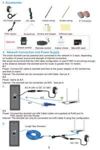 Image 5 - 1080 720pワイヤレスwifiビデオドアベルドア電話インターホンカメラpirモーション検出警報リモートロック解除