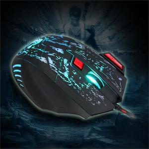 Image 3 - Rocketek usb optical wired gaming mouse 7 key 5500DPI Adjustable 7 color LED lights for Desktop computer/laptop/gamer/Home
