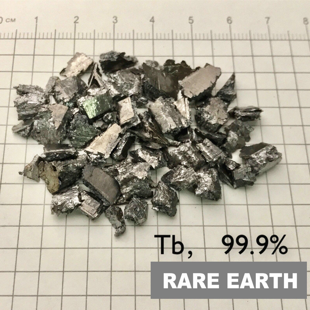 High Purity Terbium Tb Ingot Rare Earth 99.9% 4 Research And Development Element Metal Simple Substance