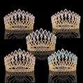 Wedding Bridal Crystal Tiara Coronas Princesa Queen Pageant Prom Rhinestone Tiara Diadema Accesorios Para el Cabello de La Boda