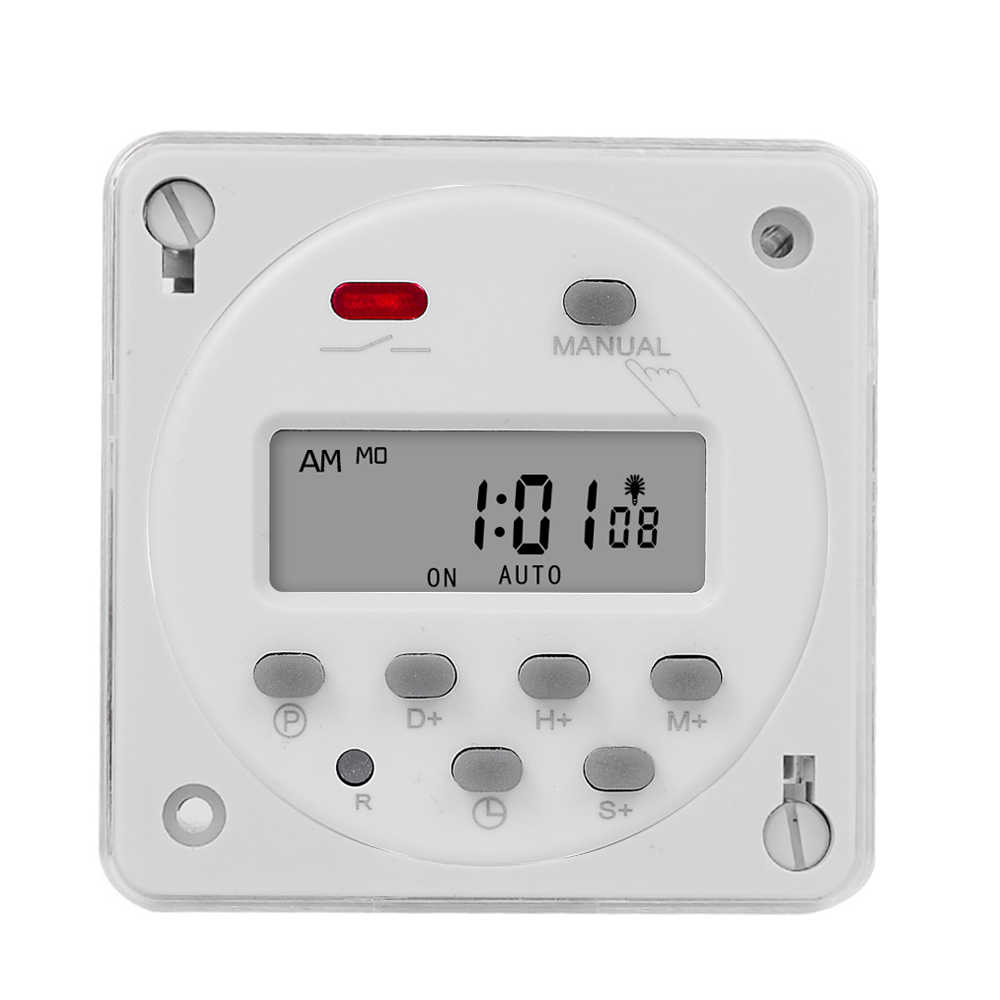 12VOLT 12V DC PROGRAMMABLE LCD DIGITAL TIMER CONTROL 16A 12VDC UPTO 8 CYCLES//DAY