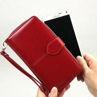Mujeres Money Bag Lady PU Tarjeta de Cuero Nuevo Diseño de la Mirada Hot Classic Oficina de Lujo Creativo Práctico Bolso de Embrague Iphone Celular billetera
