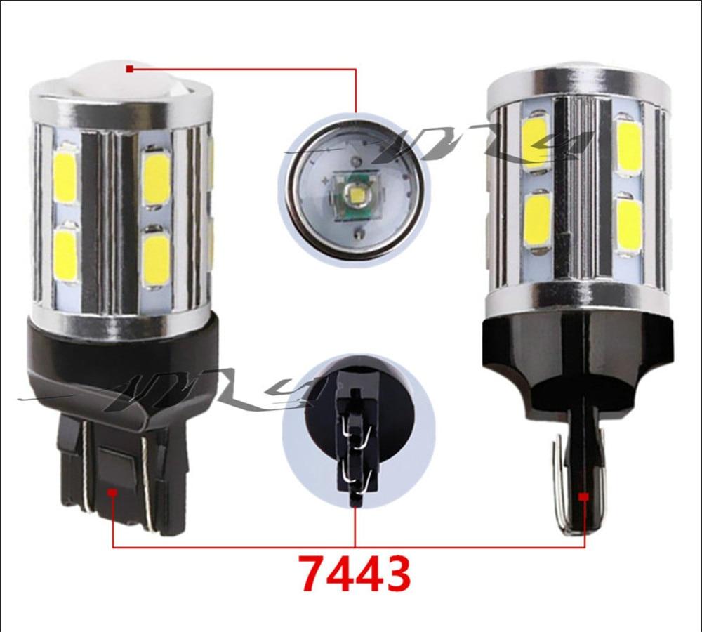 7443 7440 LED žarulje za automobile 12 SMD 5730 Xenon bijele W21 / - Svjetla automobila - Foto 3