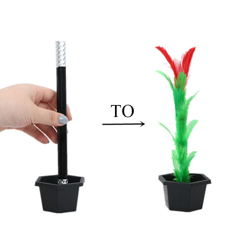 New Creative Magic Toy Magic Wand to Flower Easy Magic Tricks Street Stage Performance Kid Adult Props for fun Gift