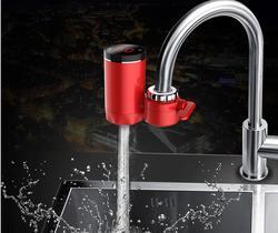 Elétrica Torneira Aquecedor de Água Quente Aquecedor de Água Sem Tanque de Aquecimento Elétrico Torneira Da Cozinha Display Digital Instantânea Torneira de Água 3000W