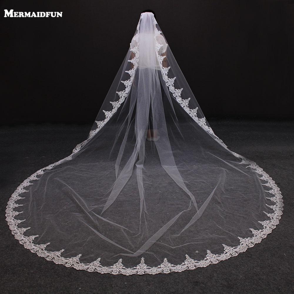 2017 recién llegado de encaje de la vendimia una capa hermoso velo - Accesorios de boda