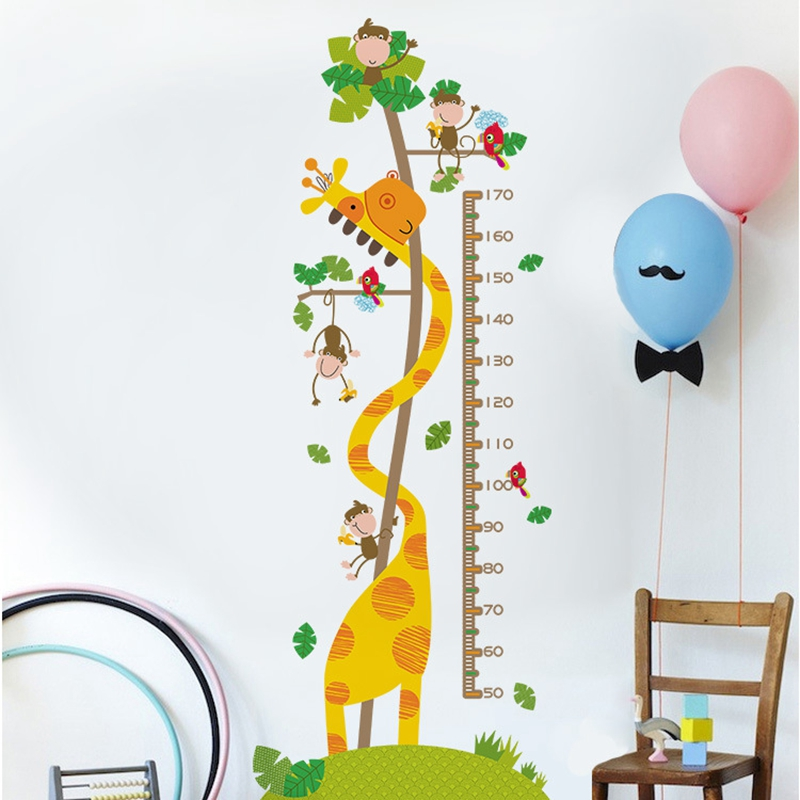 Купить с кэшбэком 3d Vinyl Wallpaper Wall Decor Stickers Baby Height Measurement PVC Desktop Wallpaper Hd 3d Self Adhesive Wallpaper Room Decals
