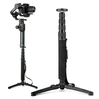 AgimbalGear Extended Monopod Bar for DSLR Gimbal Dji Ronin S Zhiyun Crane 2 with Shoulder Belt Portable Tripod Monopod with Base