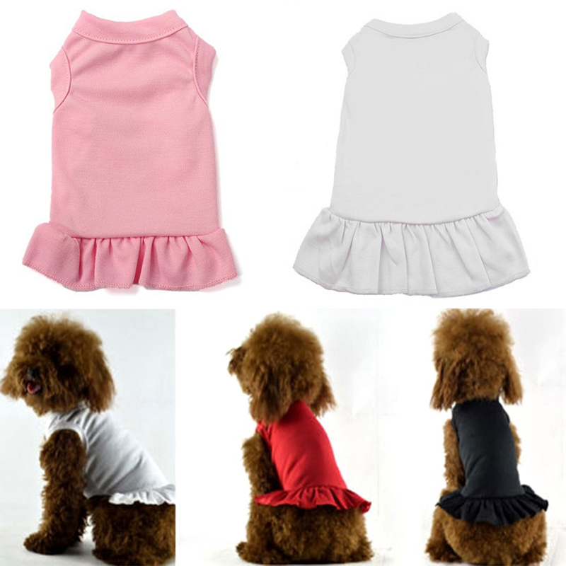 font b Pet b font Dress Plain Dog Shirt Girl Basic Dog font b Clothes