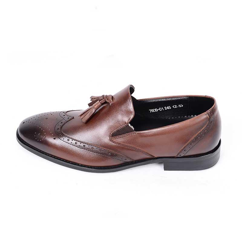 Italianos Vestir Brown Para Grimentin De Hombre Zapatos Cuero Genuino Retro Boda Lujo P4Evaq