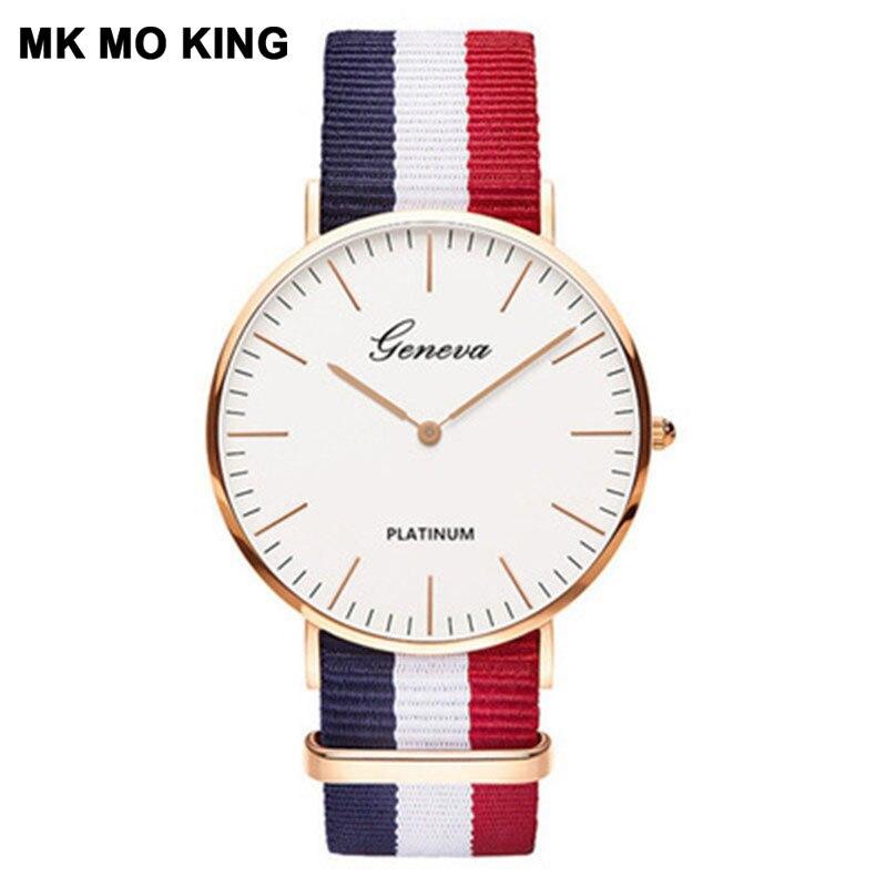 Fashion Ultra-thin Dial Men's Watch Women's Simple Quartz Clock Luxury Brand Ladies Wrist Watch Bracelet Mk Couple Lover's Gift