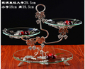 European afternoon tea multilayer fruit bowl. Cakes of plate. All the three layers of dried fruit cake plate glass tray