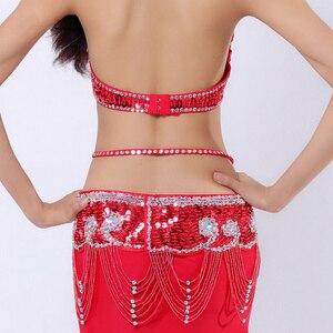Image 5 - Performance Belly Dancing Costumes Oriental Dance Outfits 3pcs Women Belly Dance Costume Set Bra Belt Skirt