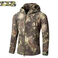 Zuoxiangru Autumn Men's Military Camouflage Hiking Jacket Army Tactical Clothing Multicam Male Camouflage Windbreakers