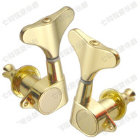 2L2R Gold Electric Bass Guitar Tuning Pegs Bass Guitar Tuners Machine Heads Tuning Keys Buttons For