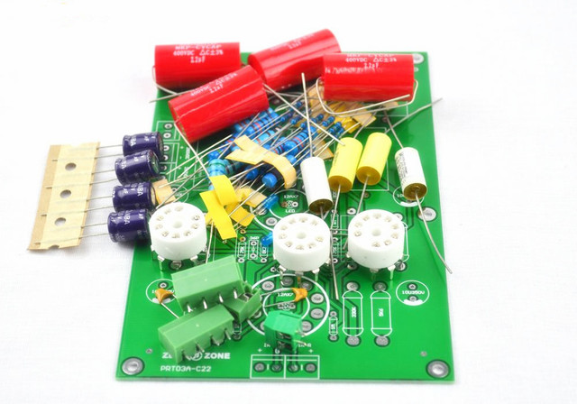 US $17 58 12% OFF|PRT 03A Hifi Stereo Tube preamp kit base on C22  preamplifier Circuit ( No tubes)-in Amplifier from Consumer Electronics on