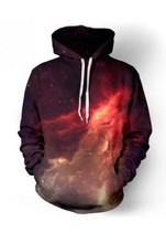 Новая Мода Пространство Galaxy Толстовки 3D Печати Хип-Хоп Пальто Вскользь Толстовка Спортивная Одежда Верхняя Одежда