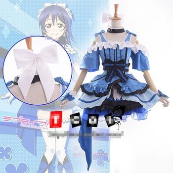 love live UMI SONODA  kira kira sensation cosplay costume party dress Hallawoon uniform Free Shipping