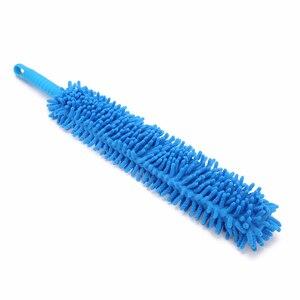 Image 3 - Cepillos de microfibra para lavado de ruedas de coche, 1 Uds., Flexible, Extra largo, suave, chenilla, azul