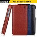 Caso imuca marca de lujo para lenovo s660 s668t s 660 del tirón del cuero casos de la cubierta accesorios del teléfono móvil con el paquete al por menor