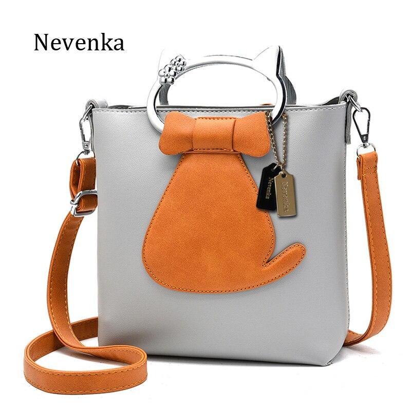 Nevenka 2017 تصميم جديد إمرأة حقيبة نوعية الجلود حقيبة عارضة نمط حمل سيدة القوس رسول حقيبة الحيوان يطبع حقائب الكتف