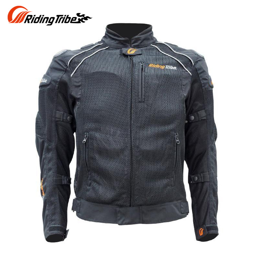 Riding Tribe Mens Motorcycle Motocross Off-road Racing Breathable Nylon Mesh Cloth Jacket Ultra-flow Body Protector Jacket