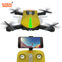 Global Drone GW018 Mini Pocket Selfie Drone Profissional Foldable Remote Control Racing Drone With HD Camera