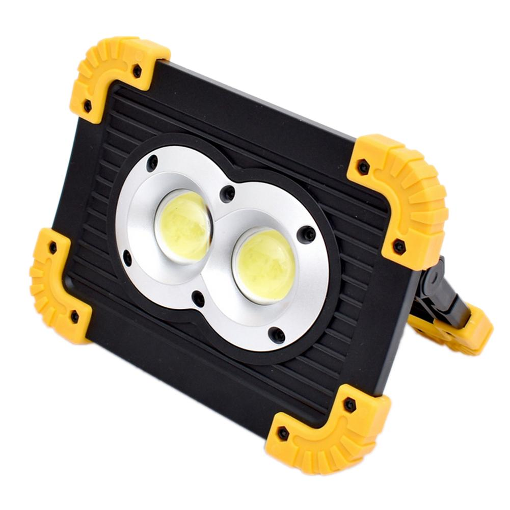 Rechargeable COB Flashlight LED Camping Work Light Lantern 2 18650 Batteries Flood light Emergency Searchlight Camping Lamp