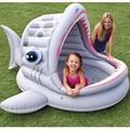 Moda En Forma de Tiburón Piscina Del Bebé en Casa, gran Espacio para Niños, Bañera bebé, más grueso, neumática, Evinormental PVC,