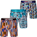 3PCS/Pack JINSHI Men's Shorts Bamboo Fiber Printed Stretch Underwear Male Man Gay Boxer Trunks Brand Boxers Underwear Pantis