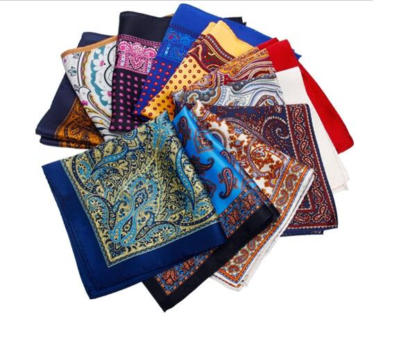 8de8c93e40284 New High Quality Paisley Mens Pocket Squares Woven Floral Silk Designer  Pocket Square Pocket Handkerchief Vintage Hankie