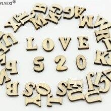 208 шт 8 комплектов 26 букв английского алфавита деревянный номер Деревянный домашний декоративный художественный ремесло буквы цифровой дисплей