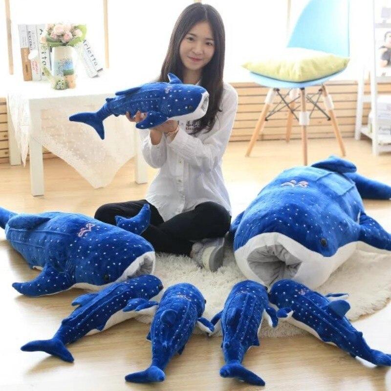 50-150 см, новый стиль, голубой цвет, Большая искусственная КИТ, мягкие плюшевые животные, детский подарок на день рождения